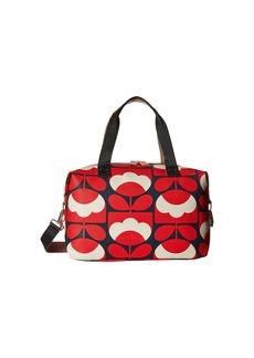 Orla Kiely Spring Bloom Vinyl Luggage Medium Zip Holdall