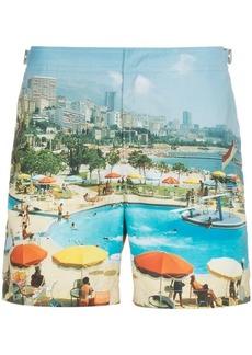 Orlebar Brown Bulldog Monte Carlo print swim shorts