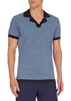Orlebar Brown Men's Felix Melange Knit Polo Shirt