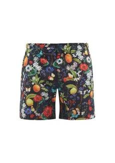 Orlebar Brown Bulldog flora and fauna print swim shorts