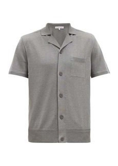 Orlebar Brown Colman cuban collar silk-blend shirt