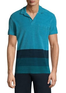 Orlebar Brown Colorblock Cotton Polo