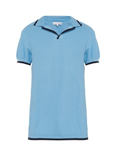 Orlebar Brown Contrast-tipped polo shirt