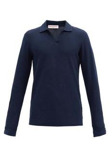 Orlebar Brown Felix cotton waffle-jersey long-sleeved polo shirt