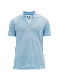 Orlebar Brown Felix linen-piqué polo shirt
