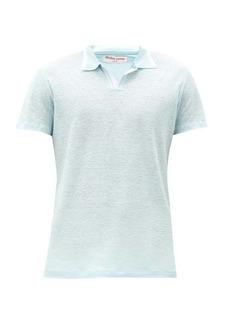 Orlebar Brown Felix open-collar linen polo shirt