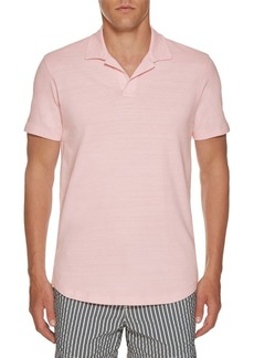 Orlebar Brown Felix Pink Slub Cotton Polo