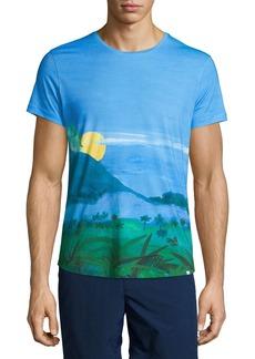 Orlebar Brown Jungle Vista Digital-Print Short-Sleeve T-Shirt
