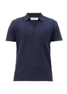 Orlebar Brown Lincoln open-collar cotton polo shirt