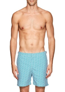 Orlebar Brown Men's Bulldog Geometric-Print Swim Trunks