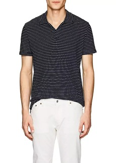 Orlebar Brown Men's Felix Striped Cotton Polo Shirt
