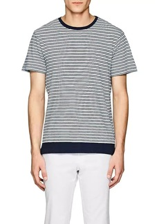 Orlebar Brown Men's Sammy Striped Cotton-Linen Jersey T-Shirt