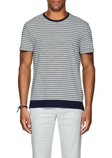 Orlebar Brown Men's Sammy Striped Cotton-Linen T-Shirt