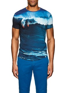 Orlebar Brown Men's Surf-Print Cotton T-Shirt