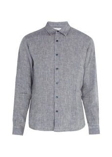 Orlebar Brown Morton linen chambray shirt