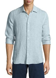 Orlebar Brown Morton Linen Sport Shirt