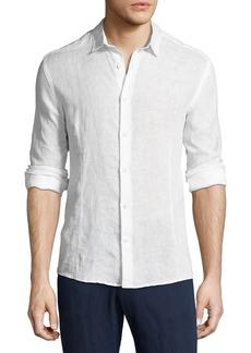 Orlebar Brown Morton Long-Sleeve Linen Shirt