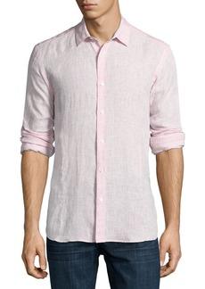 Orlebar Brown Morton Long-Sleeve Linen Tailored-Fit Shirt