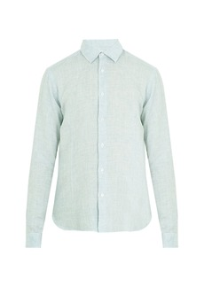 Orlebar Brown Morton point-collar linen shirt