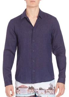 Orlebar Brown Morton Tail Long Sleeve Shirt