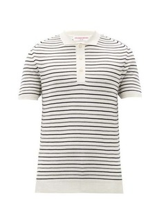 Orlebar Brown Rushton Valdez striped wool polo shirt