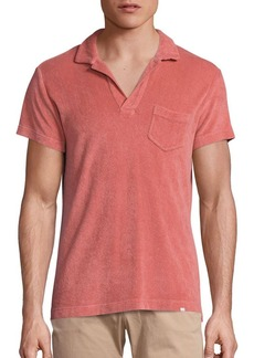 Orlebar Brown Slim-Fit Cotton Terry Polo Shirt