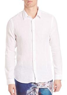Orlebar Brown Morton Tailored Cotton Button-Down Shirt