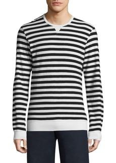 Orlebar Brown Striped Long Sleeve Cotton Shirt