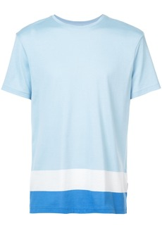 Orlebar Brown T-shirt with striped hem - Blue