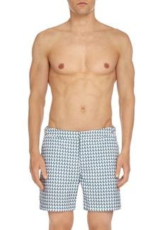 Orlebar Brown Pattern Bulldog Swim Trunks
