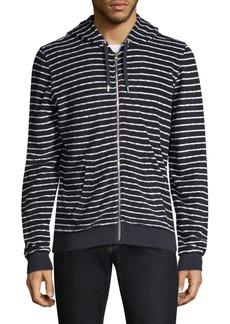 Orlebar Brown Stripe Cotton Towelling Hoodie