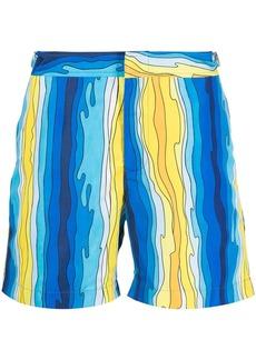 Orlebar Brown wave-print mid-rise shorts