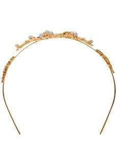 Oscar de la Renta Acorn & leaf headband