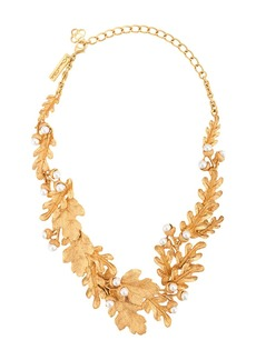 Oscar de la Renta Acorn & Leaf necklace