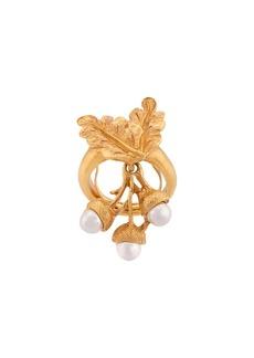 Oscar de la Renta Acorn & Leaf ring