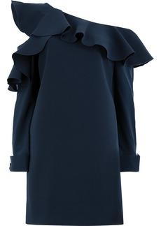 Oscar de la Renta asymmetric ruffled dress