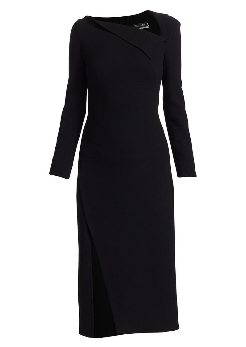 Oscar de la Renta Asymmetric Sheath Dress