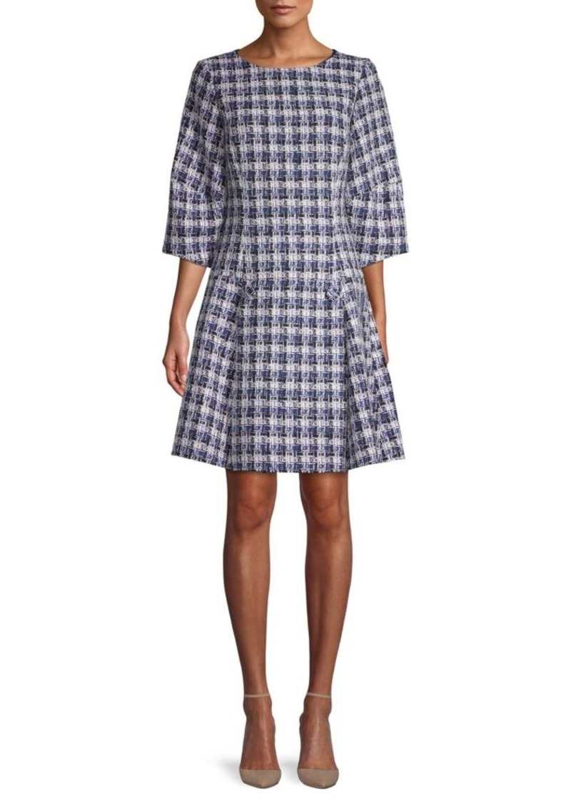 Oscar de la Renta Balloon-Sleeve A-Line Dress