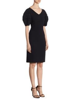 Oscar de la Renta Balloon-Sleeve Sheath Dress