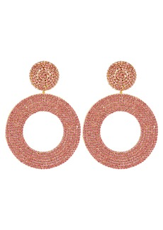 Oscar de la Renta Beaded Circle Earrings