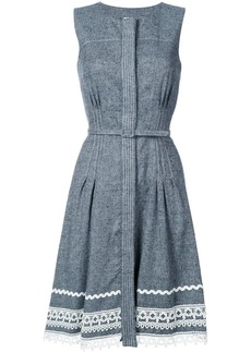 Oscar de la Renta belted dress with detailed hem