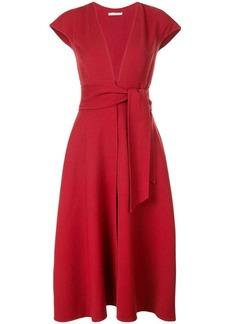 Oscar de la Renta belted flared dress