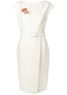 Oscar de la Renta belted midi dress