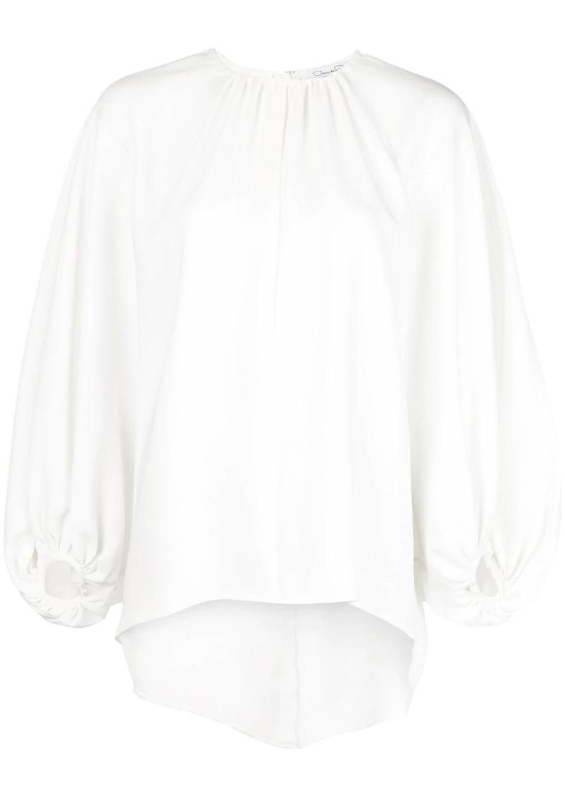 Oscar de la Renta billow sleeve blouse