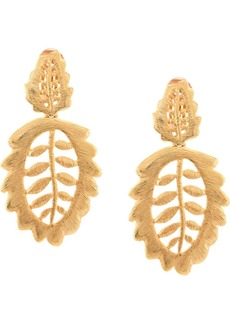 Oscar de la Renta Bischoff leaf earrings
