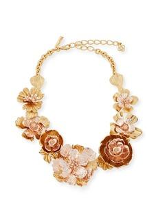 Oscar de la Renta Bold Flower Statement Necklace
