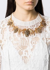 Oscar de la Renta botanical necklace