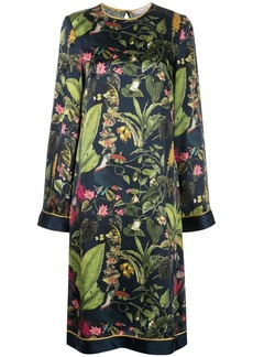 Oscar de la Renta Botanical print midi dress