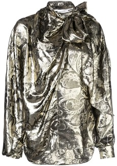 Oscar de la Renta bow embellished blouse