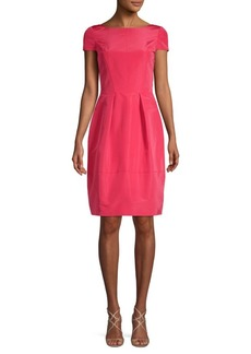 Oscar de la Renta Bow Silk Fit-and-Flare Dress